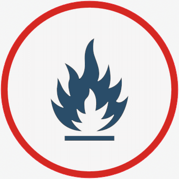 Imagem de fogo utilizada para representar o contra-ataque.